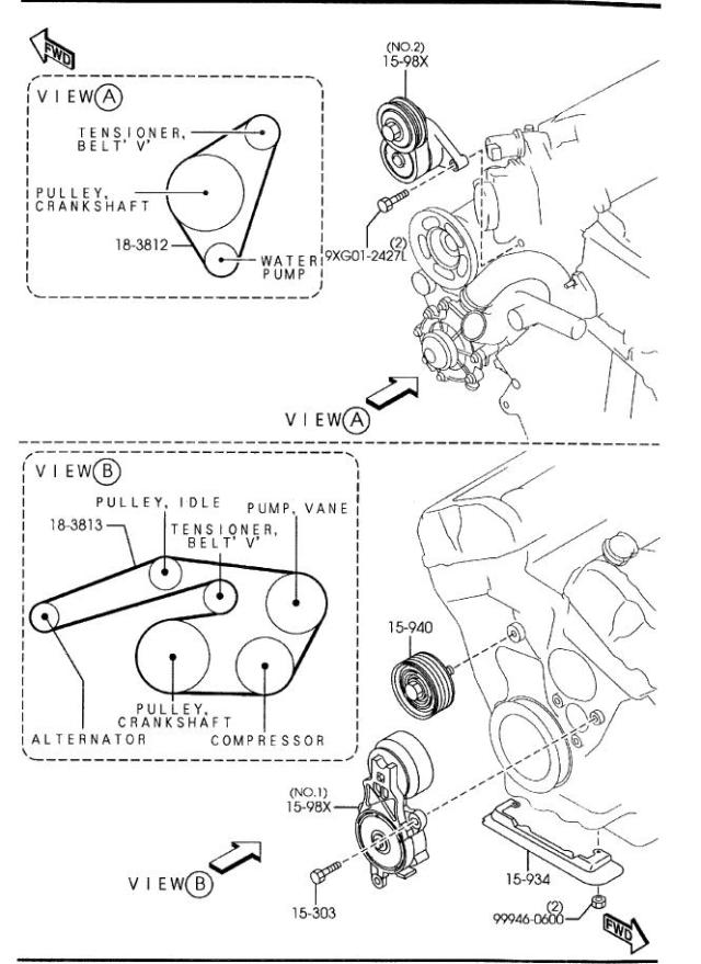 2004 Pontiac Grand Prix Serpentine Belt Diagram