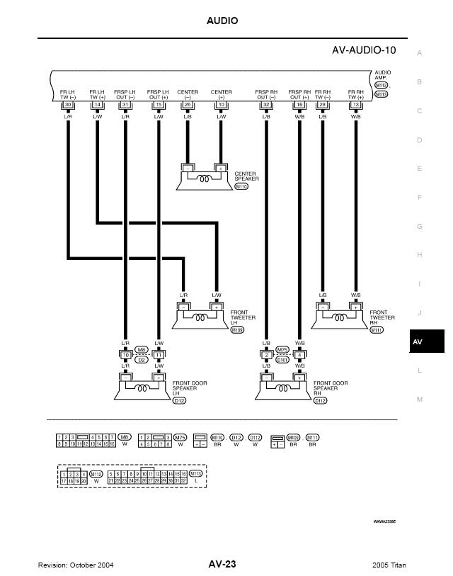 04 Nissan Titan Rockford Fosgate Color Wiring Diagram