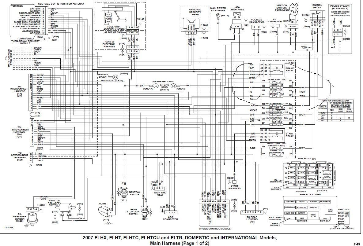 Street Glide Schematics - Wiring Diagram Dash on