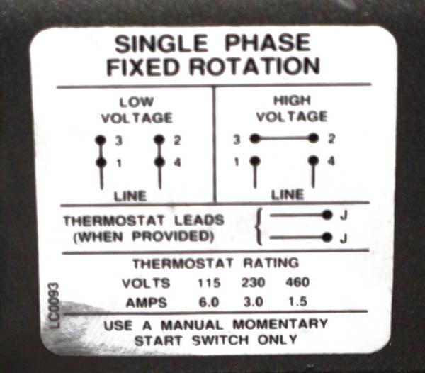 110  220 Volt 6 Pole Induction Motor Wiring Diagram