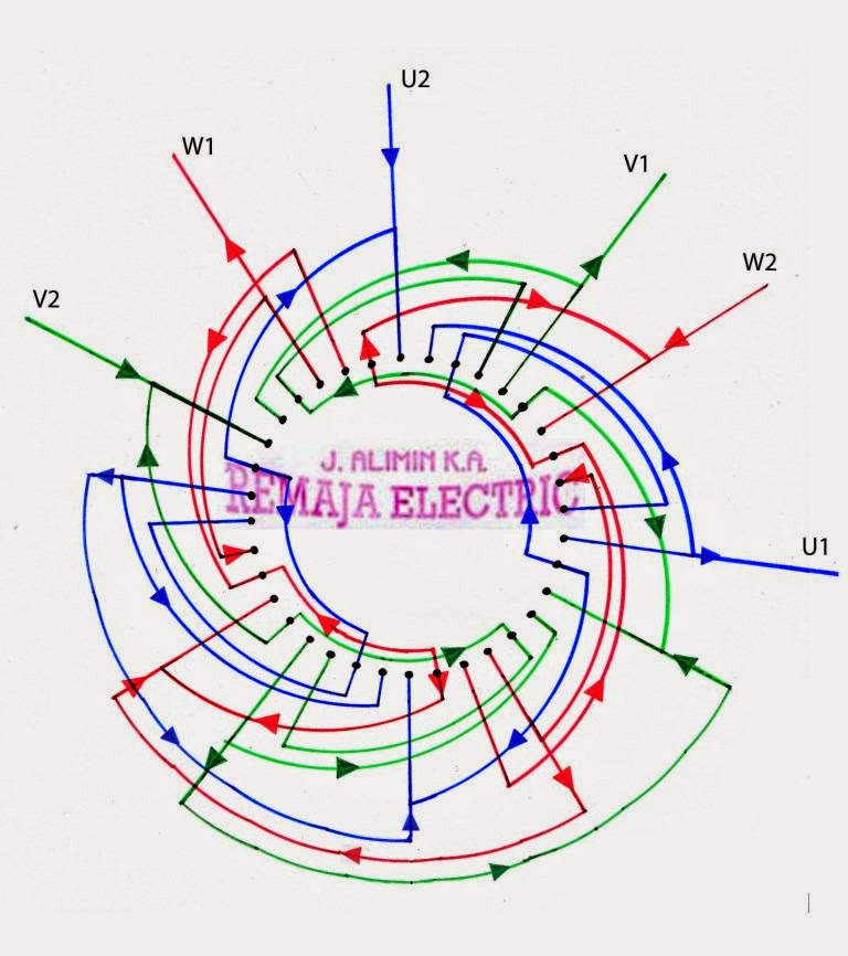 110220 Volt 6    Pole    Induction    Motor       Wiring       Diagram