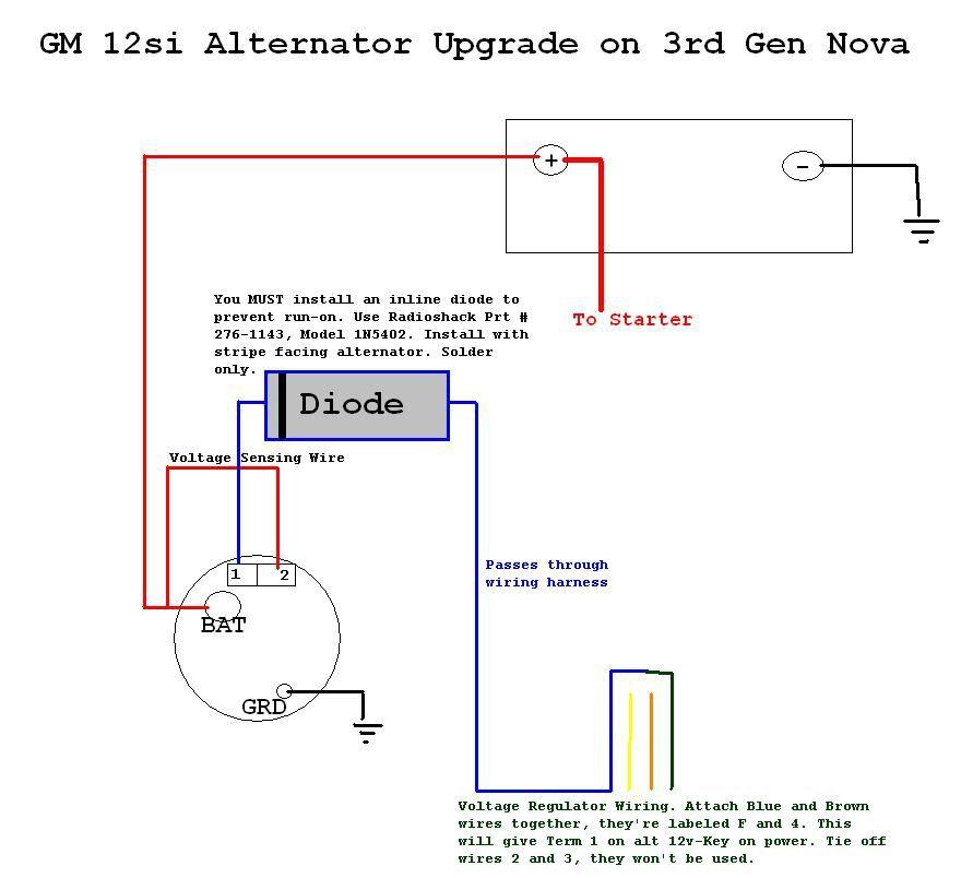 Gm 1 Wire Alternator Wiring Diagram from schematron.org