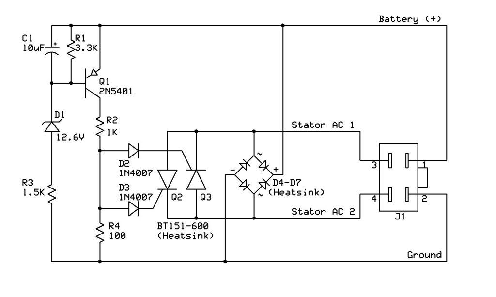 150cc Gy6 Voltage Regulator Wiring Diagram on