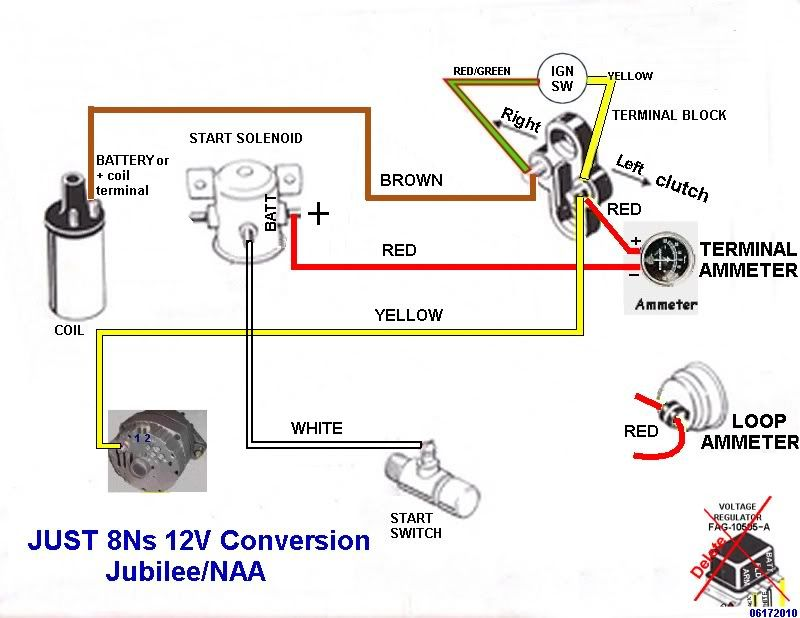 53 Ford Naa Wiring Diagram 12v - Wiring Diagrams  Ford Naa Wiring Diagram V on