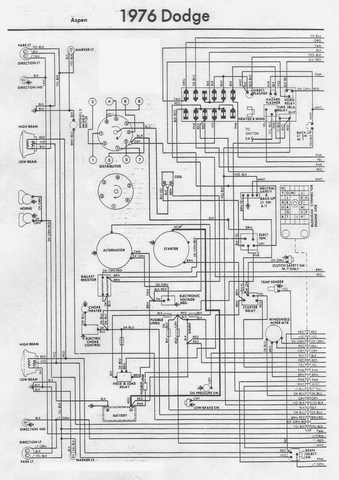 1962 Plymouth 330 Ignition Wiring Diagram