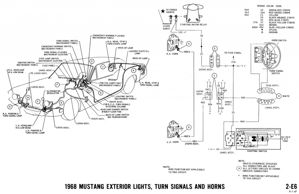 1965 Mustang Colorized Wiring Diagram