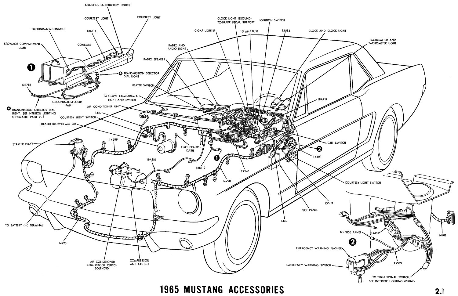 1965 Mustang Colorized Wiring Diagram Book Automotive Diagrams Books