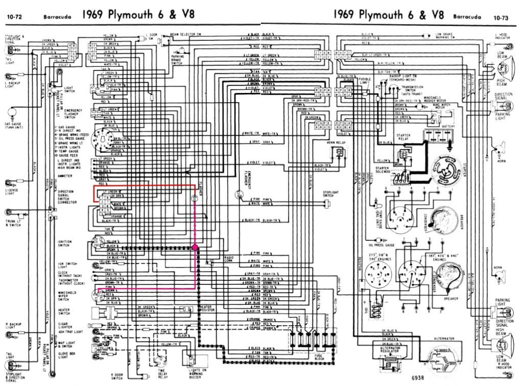 1970 Barracuda 2 Speed Wiper Switch Wiring Diagram