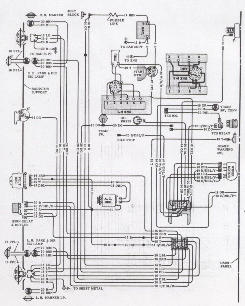 1971 Chevelle Wagon Tailgate Power Window Wiring Diagram