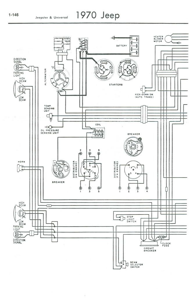 1971 Jeep Cj5 V6 Color Wiring Diagram
