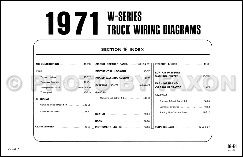 1973 Dodge B300 Wiring Diagram