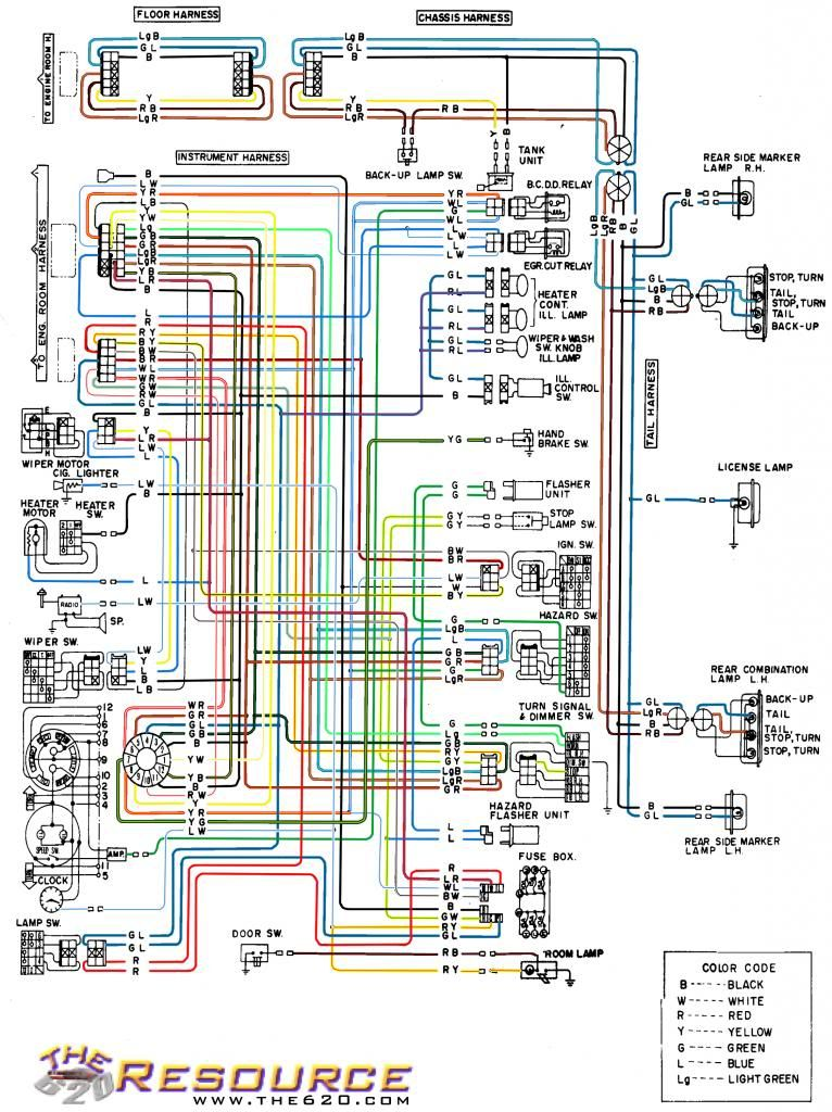 1974 Datsun 620 Wiring Diagram - Home Wiring Diagrams on