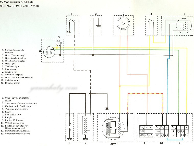 1974-yamaha-dt175-a-color-wiring-diagram-4 Yamaha Dt Wiring Diagram on yamaha motor diagram, yamaha ignition diagram, yamaha steering diagram, suzuki quadrunner 160 parts diagram, yamaha solenoid diagram, yamaha schematics, yamaha wiring code,