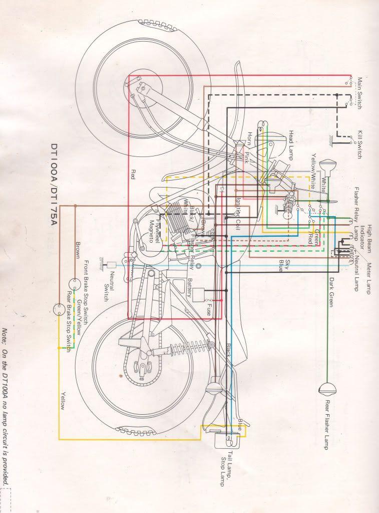 1976 yamaha dt175 wiring diagram on 75 yamaha enduro, 1974 yamaha dt175  enduro, yamaha yamaha - dt125