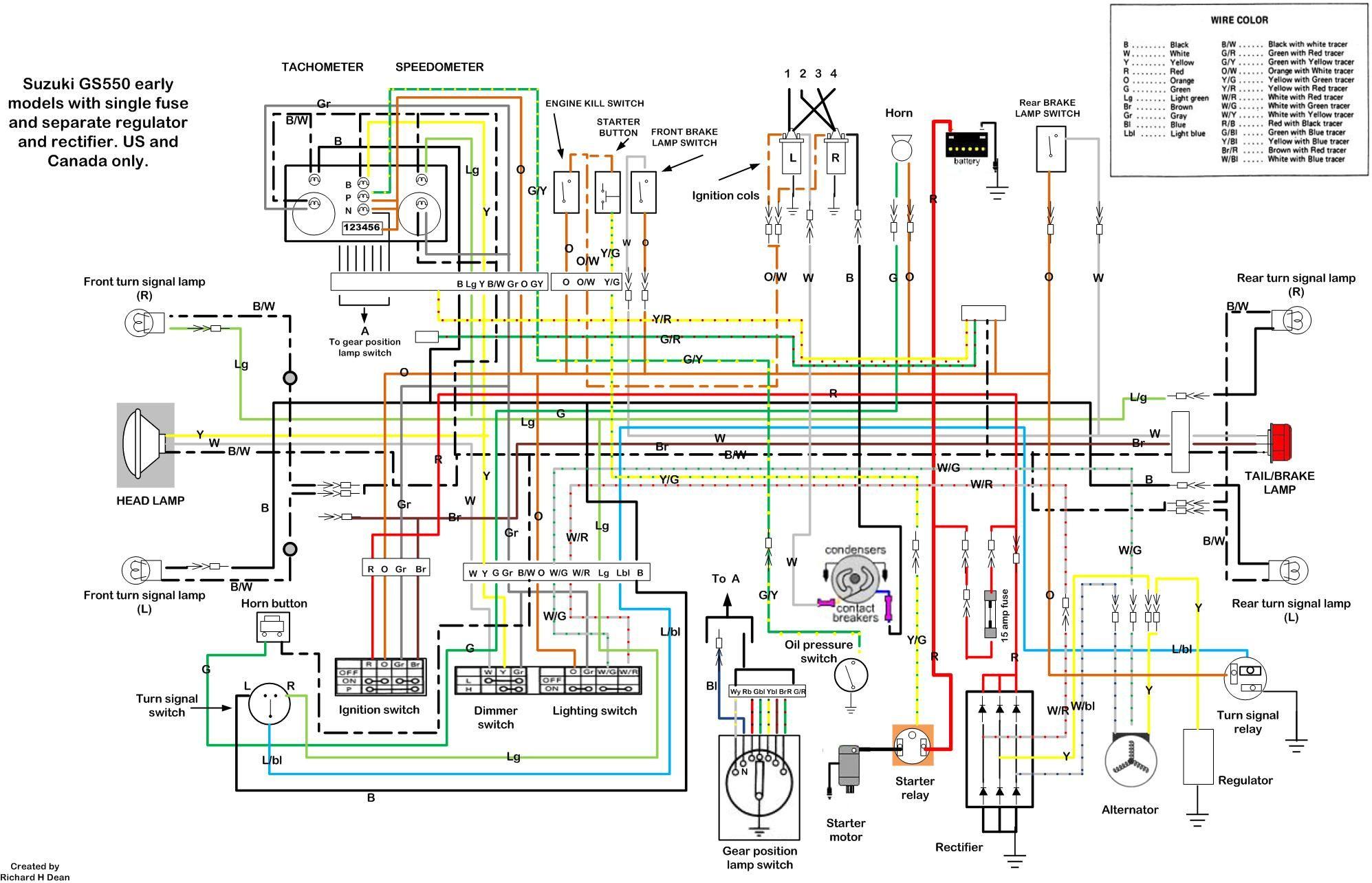 1978 Gs550 Wiring Diagram