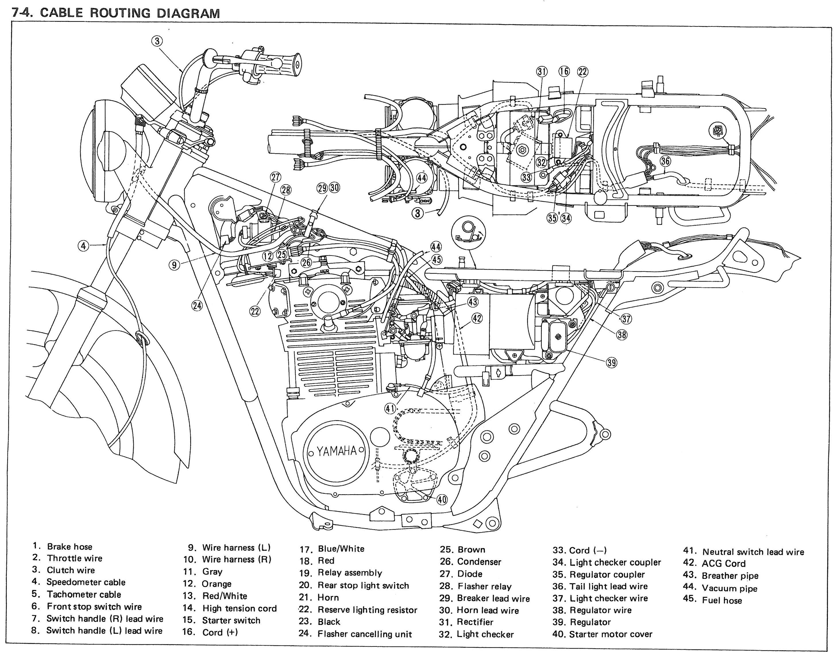 1978 Yamaha Xs650 Wiring Diagram on