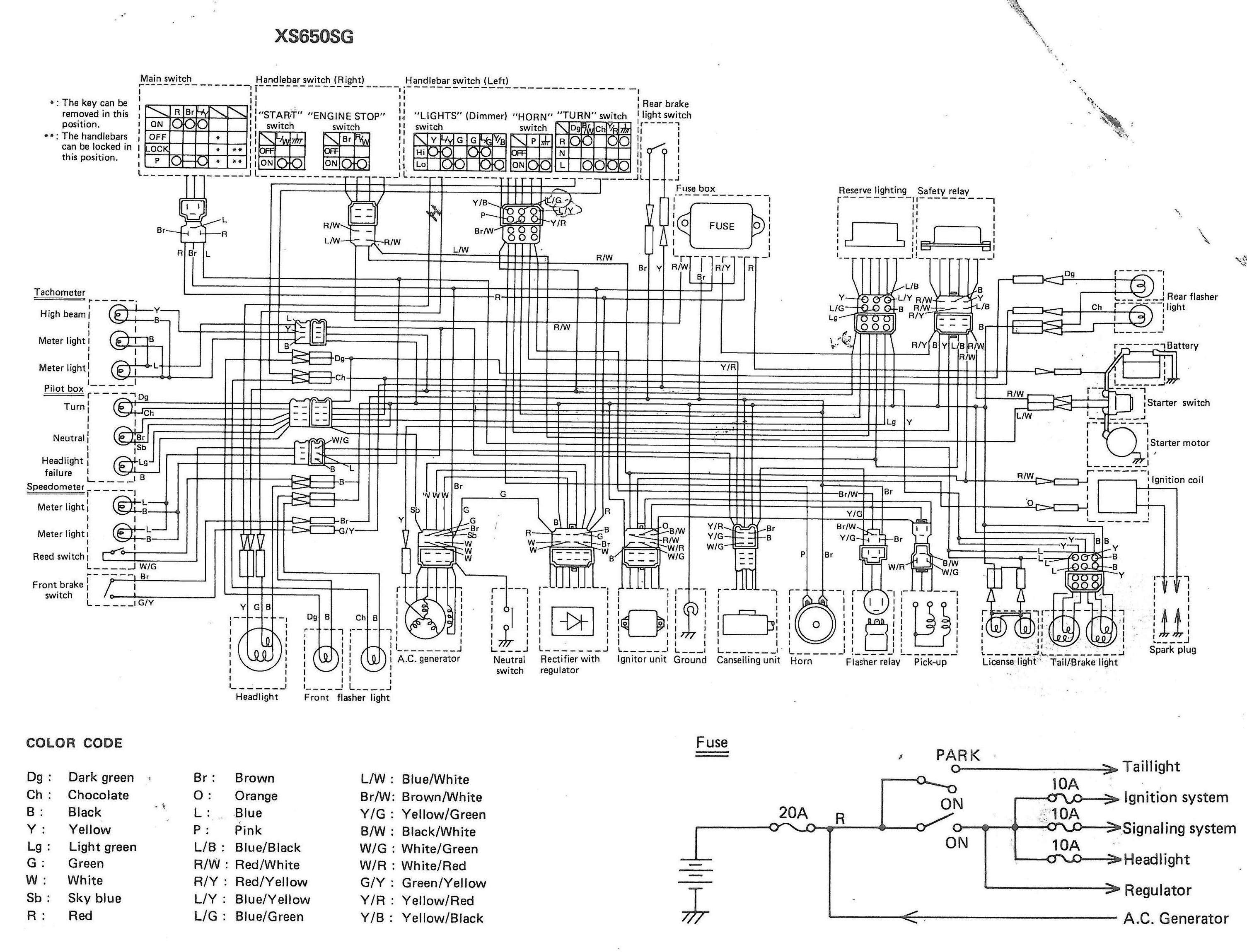 1979 yamaha xs1100 wiring diagram european 6 1979 yamaha xs1100 wiring diagram european