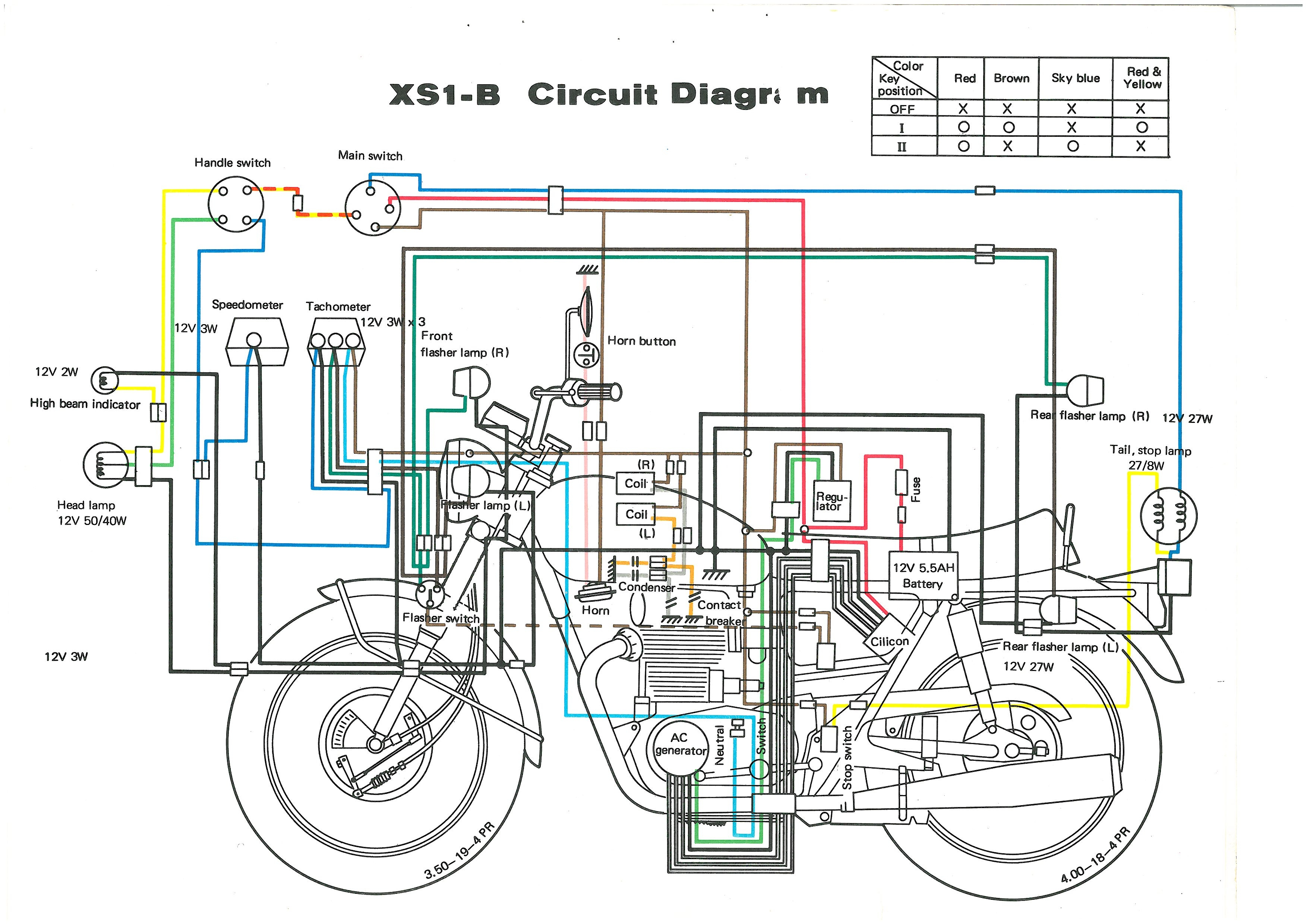 1980 Yamaha Xs650 Ignition Wiring Diagram
