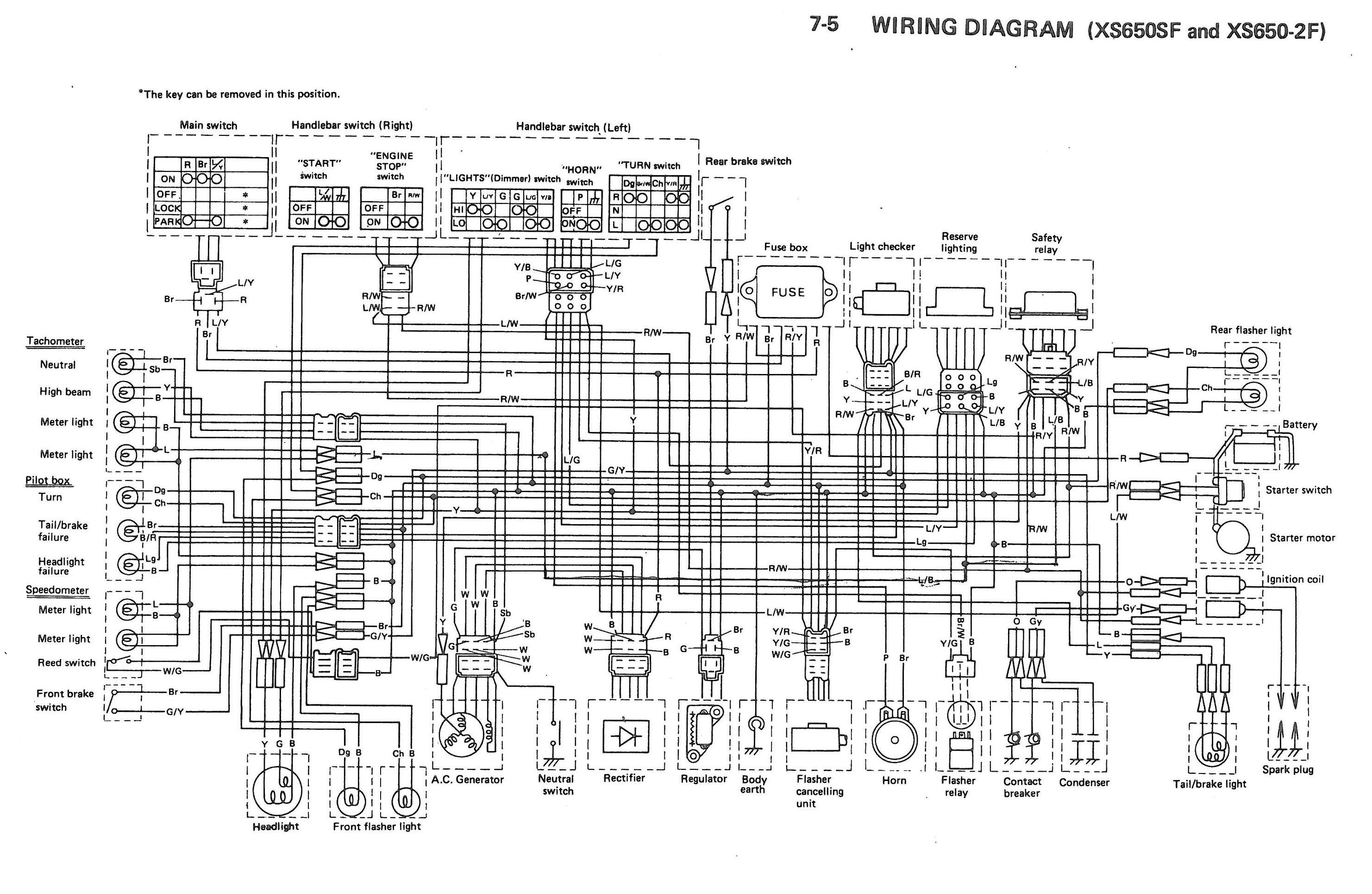 Yamaha Xs11 Wiring Diagram | Wiring Diagram on