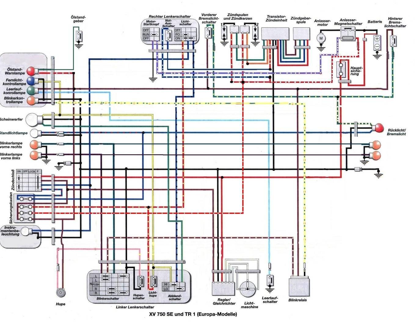1982 Xv750 Wiring Diagram