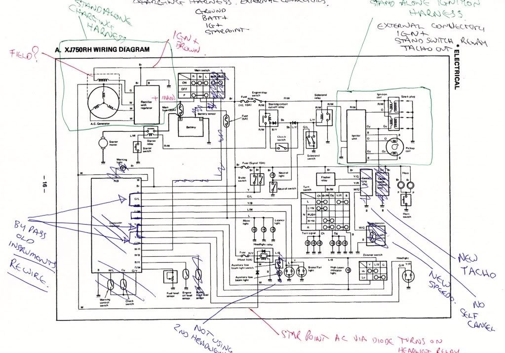 1982 Yamaha Maxim 650 Headlight Wiring Diagram