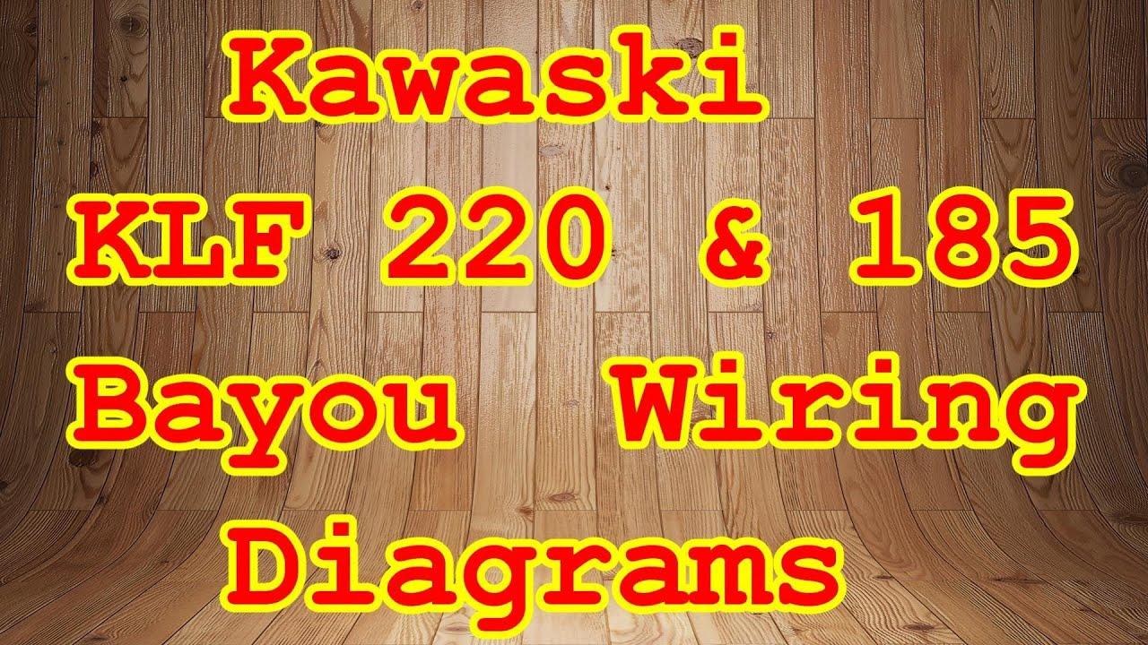 1985 kawasaki bayou 185 wiring diagram. Black Bedroom Furniture Sets. Home Design Ideas
