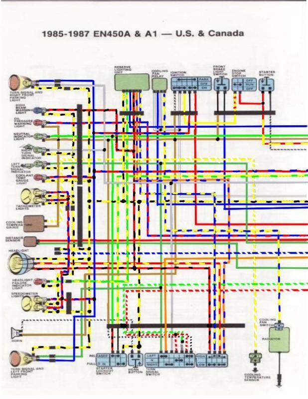 1986 Kawasaki 454ltd Wiring Diagram