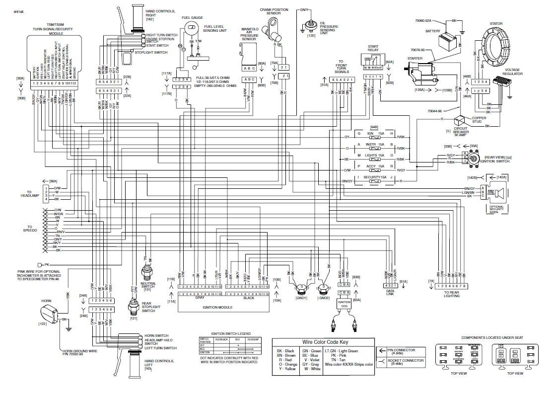 Simple Harley Wiring Diagram from schematron.org