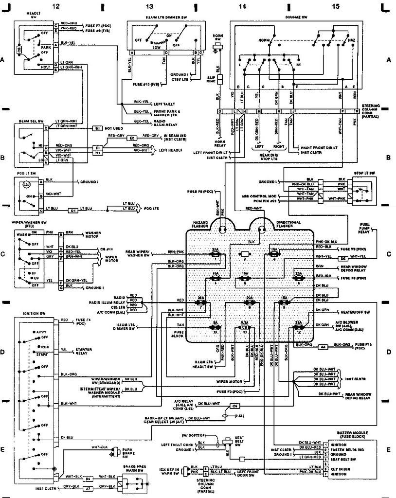 Diagram  92 Jeep Wrangler Wiring Diagram Full Version Hd