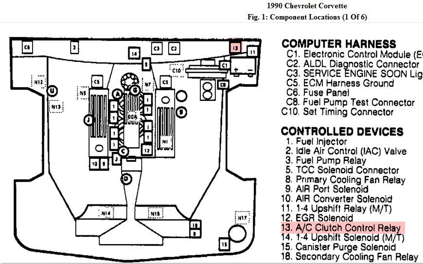 1991 C4 Vats Bypass Wiring Diagram