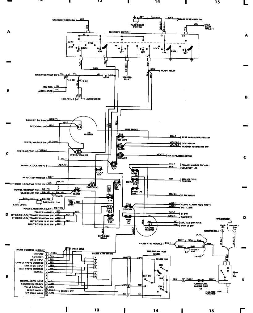 94 Jeep Wrangler Spark Plug Wiring Diagram - Wiring Diagrams Jeep Cherokee Spark Plug Wiring Diagram on
