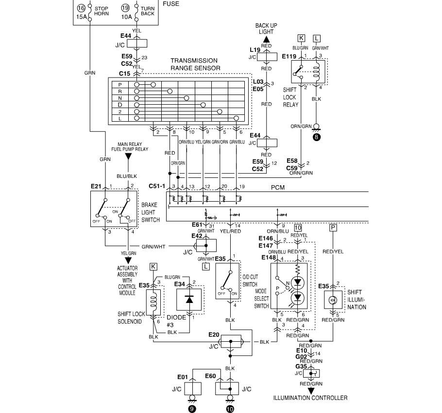 1995 suzuki esteem headlight wiring diagram