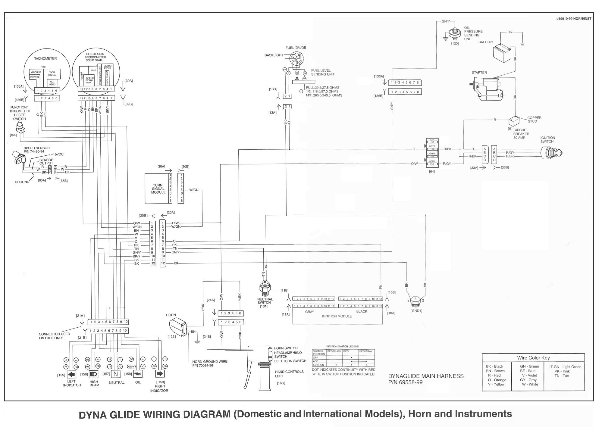 2001 Wide Glide Wiring Diagram
