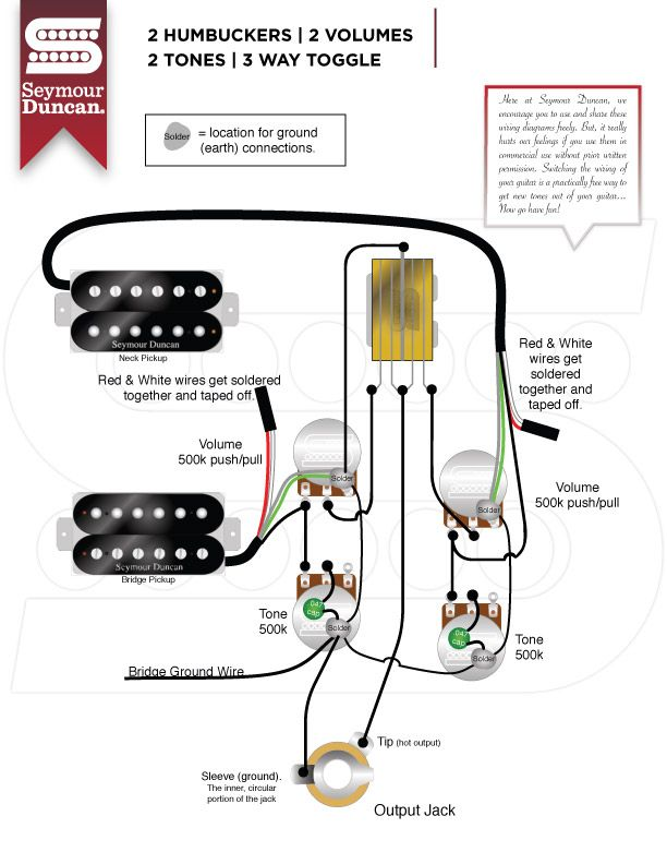 2 Humbucker 1 Volume 2 Tone Standard 5 Way Switch Wiring Diagram Seymour Duncan