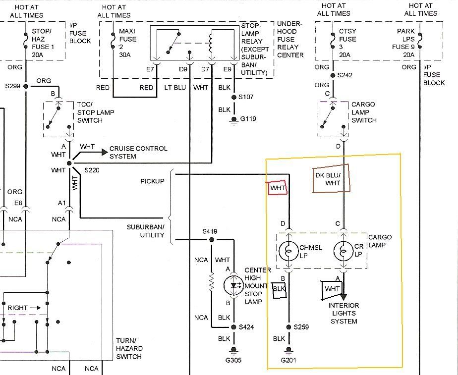 2001 Chevy Silverado Tail Light Wiring Diagram from schematron.org