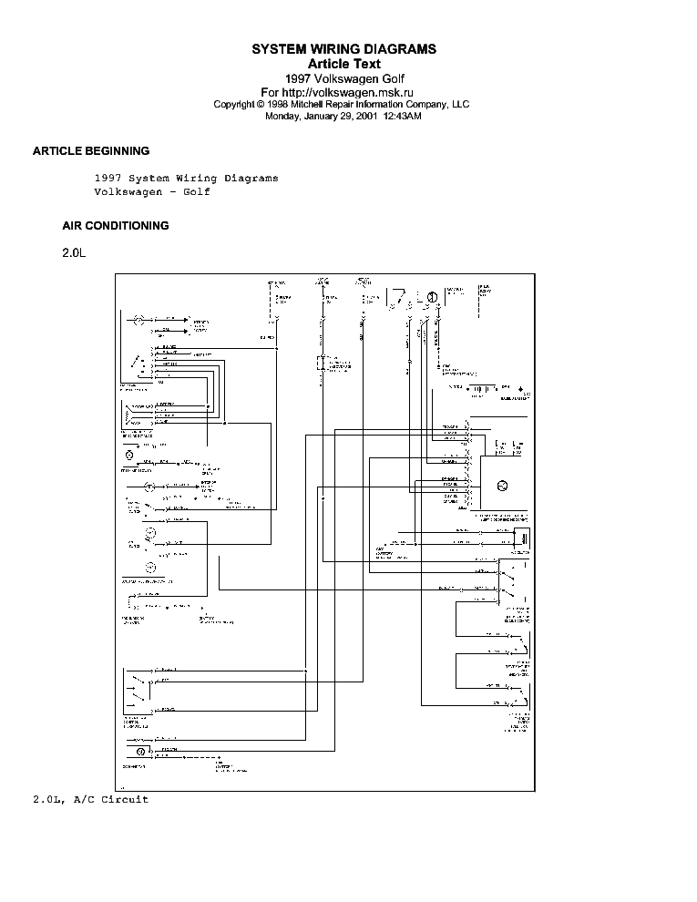 2001 Vw Golf Tdi Monsoon Wiring Diagram