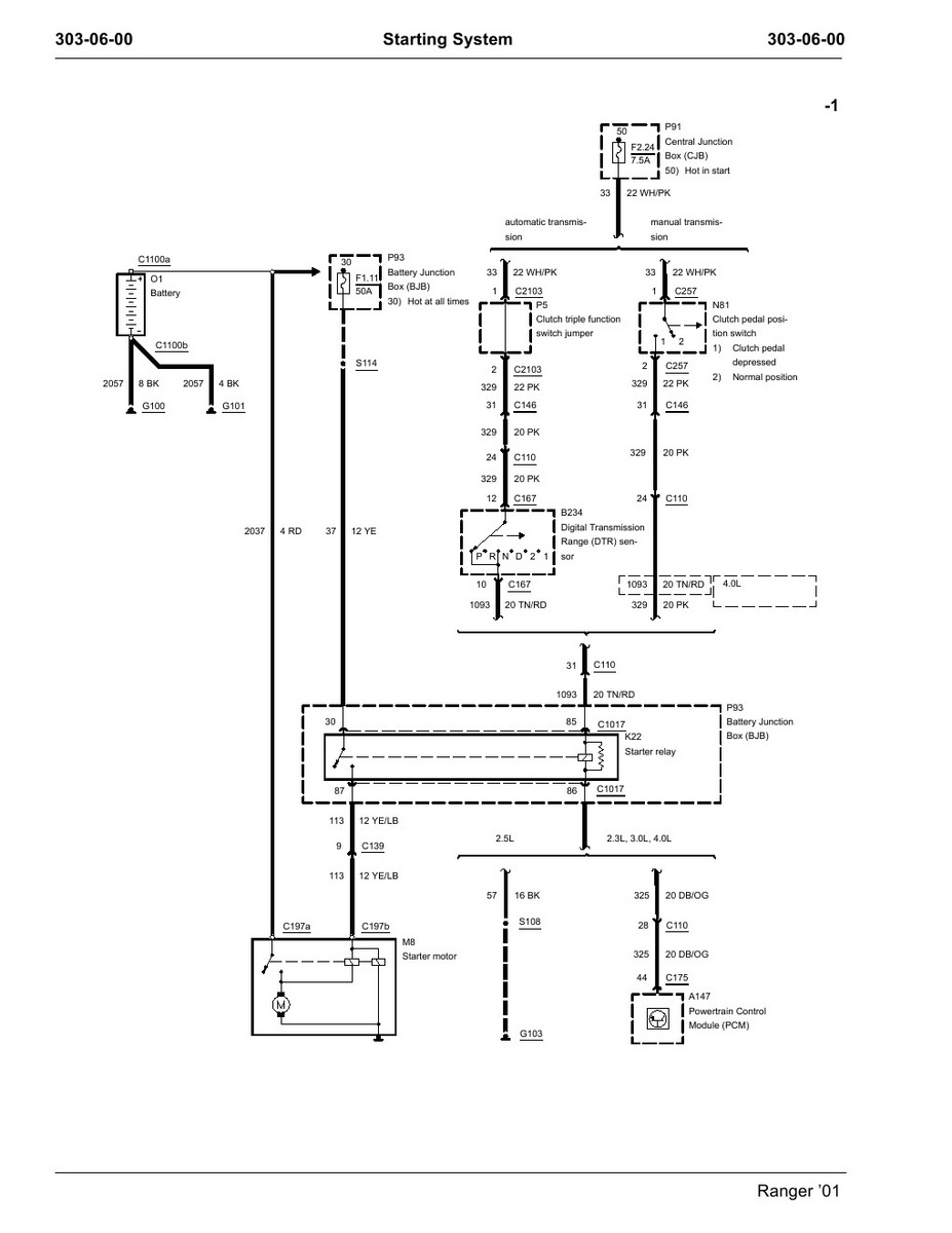 2002 Ford F150 Starter Relay Wiring Diagram 5.4l