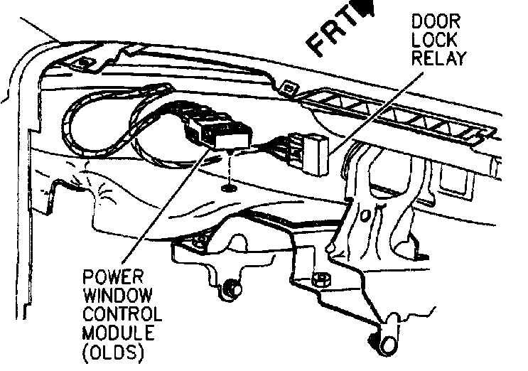 2003 Alero Right Frot Power Window Wiring Diagram