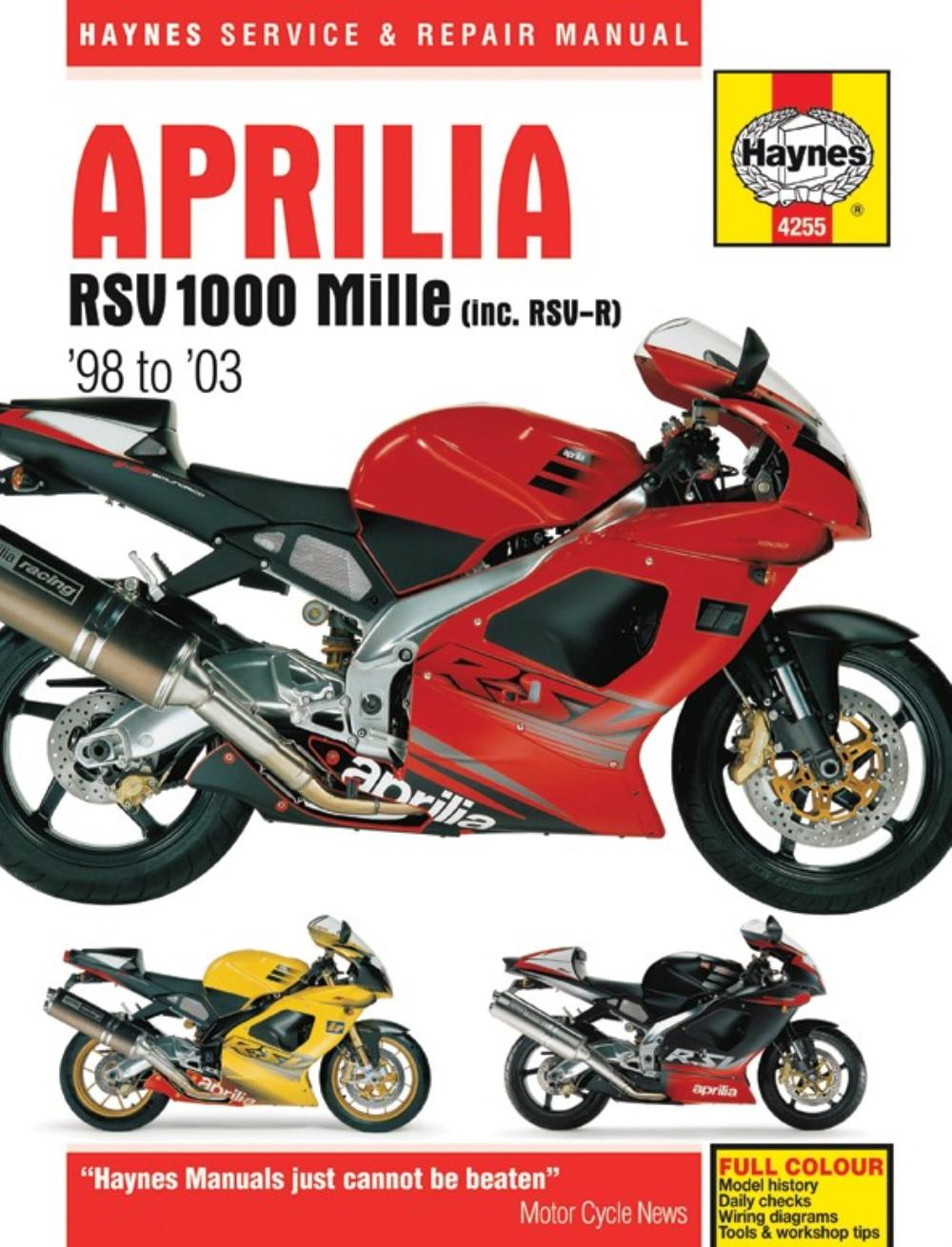 2003    Aprilia       Rsv       1000    Wiring    Diagram