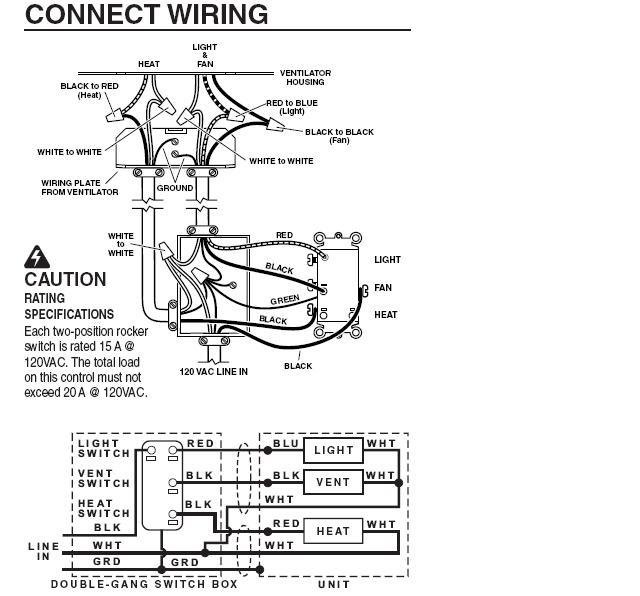 2003 Nutone Three Wire Fan Wiring Diagram