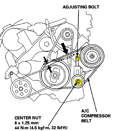 2004 Acura Tsx Serpentine Belt Diagram
