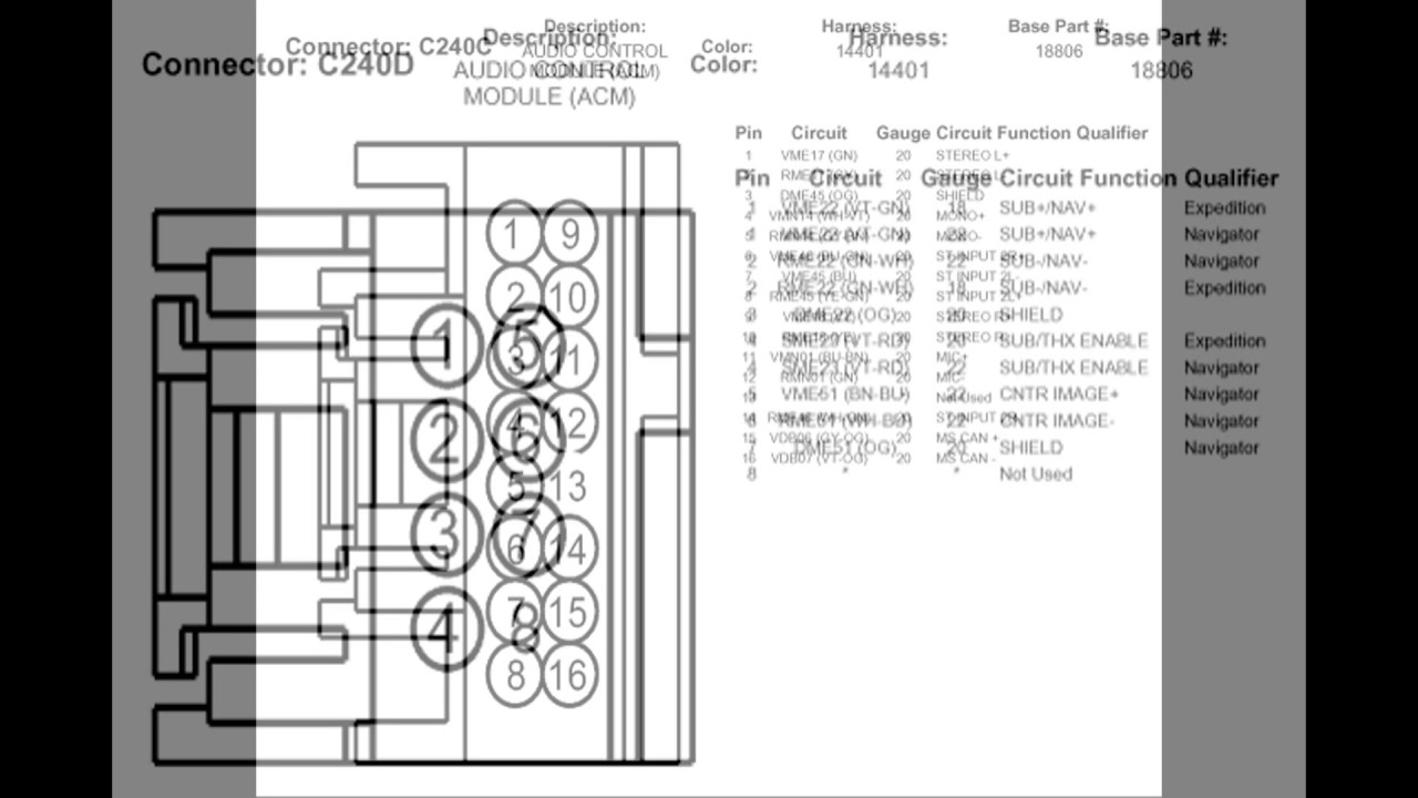 2004 Lincoln Navigator Stereo Wiring Diagram With Factory Navigation