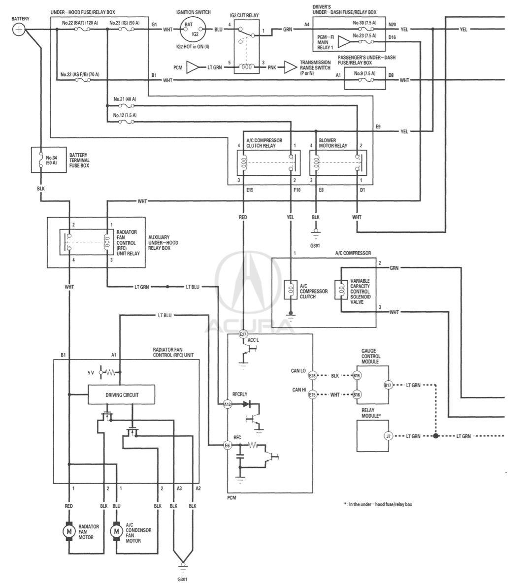 Acura Wiring Diagram - Schematics Online on