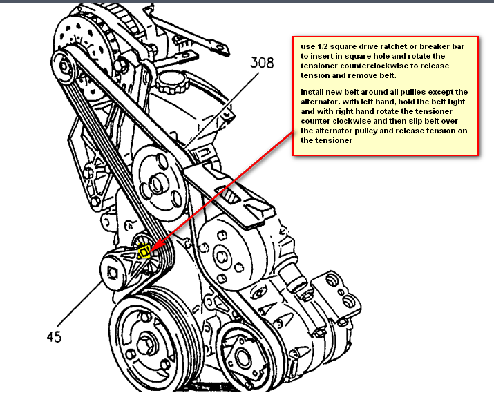 2005 Buick Lacrosse Serpentine Belt Diagram