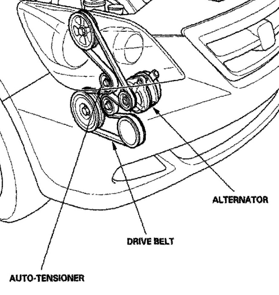 2005 Honda Odyssey Serpentine Belt Diagram