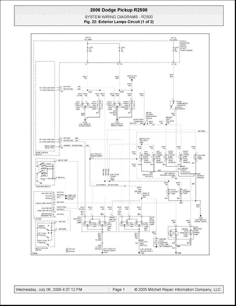 2006 Dodge Ram 3500 Tipm Wiring Diagram For 05 Truck