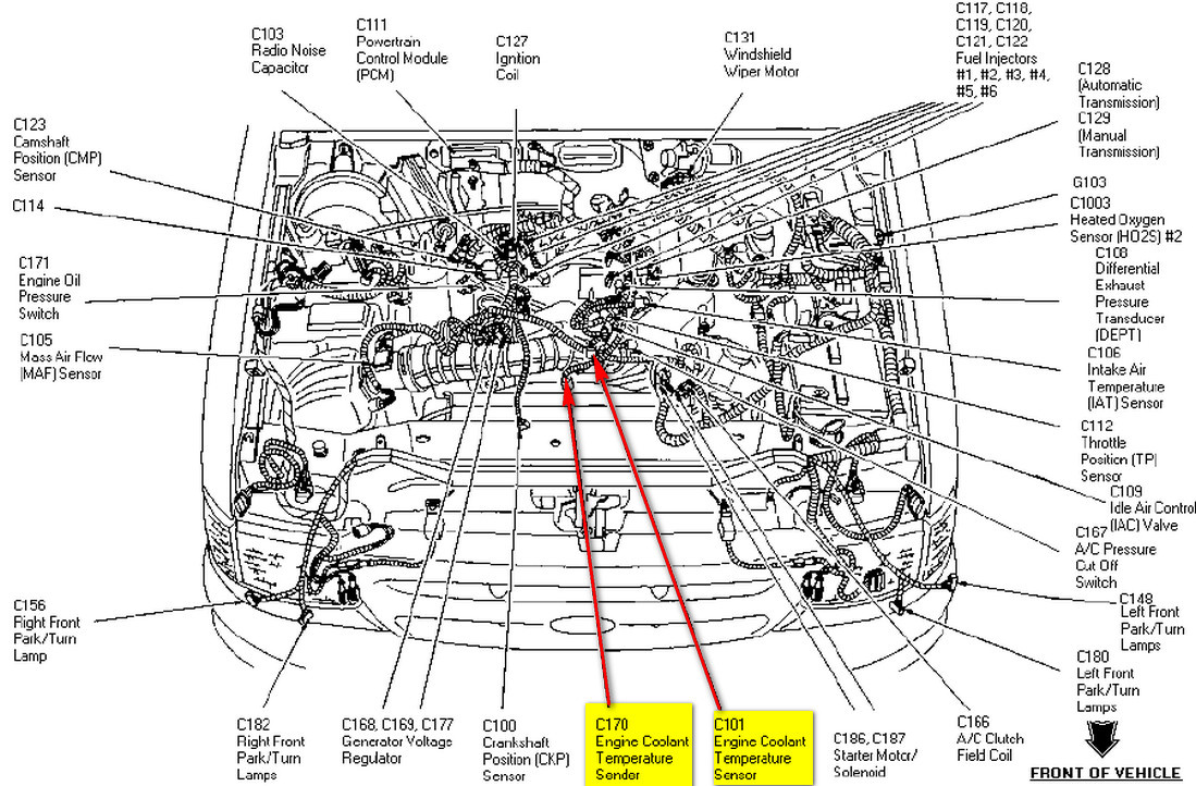 1997 ford explorer 302 engine diagram wiring diagram directory 2005 ford f150 speed sensor location ford explorer 4 0l sohc rough idle part