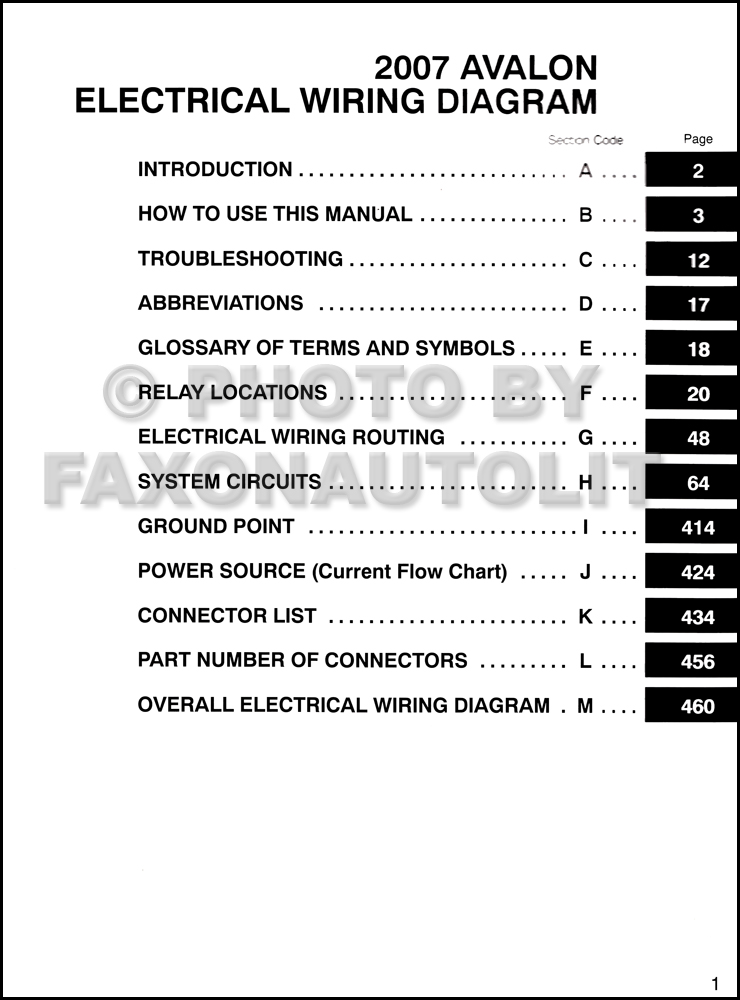 2007 Toyota Avalon Rear Subwoofer Wiring Diagram