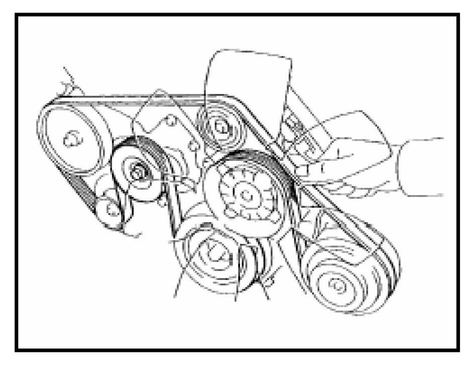 2004 Toyota Corolla Serpentine Belt Diagram