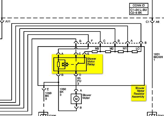2007 Uplander Cooling Fan Resistor Wiring Diagram